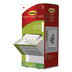 "Picture Hanging Strips, 5/8"" x 2 3/4"", White, 50/Carton"