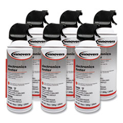 Compressed Air Duster Cleaner, 10 oz Can, 6/Pack