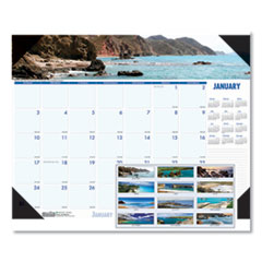 Recycled Coastlines Photographic Monthly Desk Pad Calendar, 22 x 17, 2020