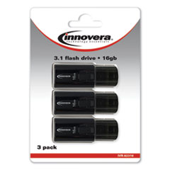 1USB 3.0 Flash Drive, 16 GB, 3/Pack