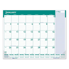 Express Track Monthly Desk Pad Calendar, 22 x 17, 2021-2022