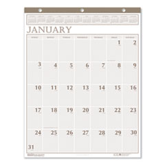 Recycled Large Print Monthly Wall Calendar, Leatherette Binding, 20 x 26, 2021