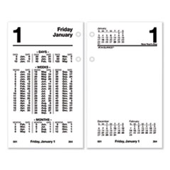 Financial Desk Calendar Refill, 3 1/2 x 6, White, 2020
