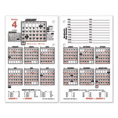 Burkhart's Day Counter Desk Calendar Refill, 4.5 x 7.38, White, 2021