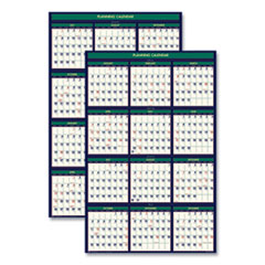 Recycled Four Seasons Reversible Business/Academic Calendar, 24 x 37, 2020-2021