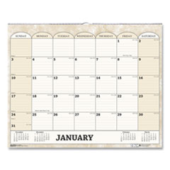 Recycled Monthly Horizontal Wall Calendar, 14 7/8 x 12, 2020