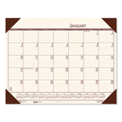 Recycled EcoTones Moonlight Cream Monthly Desk Pad Calendar, 22 x 17, 2021
