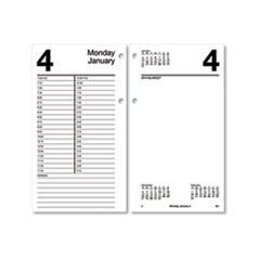 Large Desk Calendar Refill, 4 1/2 x 8, White, 2020