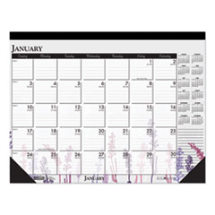 100% Recycled Contempo Desk Pad Calendar, 22 x 17, Wild Flowers, 2020