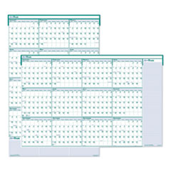 Recycled Express Track Reversible/Erasable Yearly Wall Calendar, 24 x 37, 2021