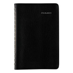 Daily Appointment Book with Hourly Appointments, 8 x 4 7/8, Black, 2020