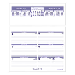 Flip-A-Week Desk Calendar Refill, 7 x 6, White, 2021