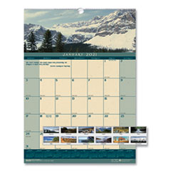 Recycled Landscapes Monthly Wall Calendar, 12 x 16.5, 2021