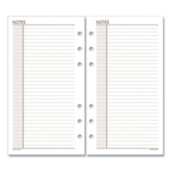 Lined Notes Pages, 6.75 x 3.75, White, 30/Pack