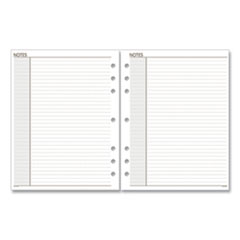 Lined Notes Pages, 8.5 x 5.5, White, 30/Pack