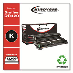Remanufactured Black Drum Unit, Replacement for Brother DR420, 12,000 Page-Yield