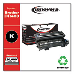 Remanufactured Black Drum Unit, Replacement for Brother DR400, 20,000 Page-Yield, 102709P