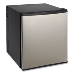 1.7 Cu.Ft Superconductor Compact Refrigerator, Black/Stainless Steel