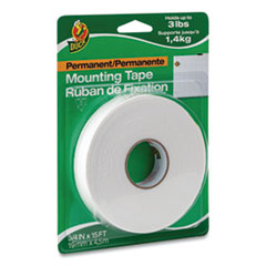"Permanent Foam Mounting Tape, 3/4"" x 15ft, White"