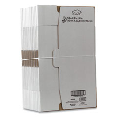 "Self-Locking Mailing Box, Regular Slotted Container (RSC), 13"" x 9"" x 4"", White, 25/Pack"