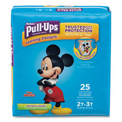 1Pull-Ups Learning Designs Potty Training Pants for Boys, Size 2T-3T, 25/Pack