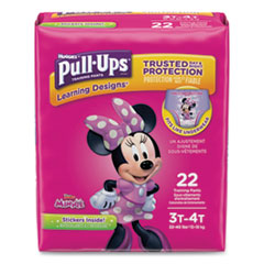 1Pull-Ups Learning Designs Potty Training Pants for Girls, Size 3T-4T, 22/Pack