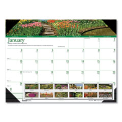 Recycled Gardens of the World Photo Monthly Desk Pad Calendar, 22 x 17, 2021