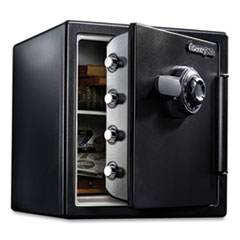 Fire-Safe with Combination Access, 1.23 cu ft, 16.38 x 19.38 x 17.88, Black