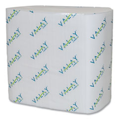 Valay Interfolded Napkins, 2-Ply, 6.5 x 8.25, White, 500/Pack, 12 Packs/Carton