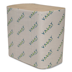 Valay Interfolded Napkins, 2-Ply, 6.5 x 8.25, Kraft, 6,000/Carton