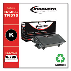 Remanufactured Black High-Yield Toner, Replacement for Brother TN570, 6,700 Page-Yield
