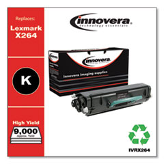 Remanufactured Black High-Yield Toner, Replacement for Lexmark X264 (X264H11G), 9,000 Page-Yield