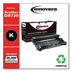 Remanufactured Black Drum Unit, Replacement for Brother DR720, 30,000 Page-Yield
