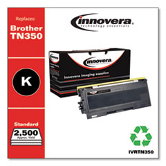 Remanufactured Black Toner, Replacement for Brother TN350, 2,500 Page-Yield