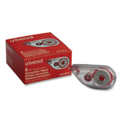 "Side-Application Correction Tape, 1/5"" x 393"", 6/Pack"