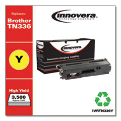 Remanufactured Yellow High-Yield Toner, Replacement for Brother TN336Y, 3,500 Page-Yield