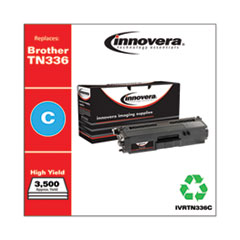 Remanufactured Cyan High-Yield Toner, Replacement for Brother TN336C, 3,500 Page-Yield