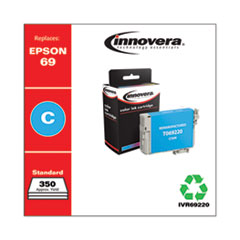 Remanufactured T069220 (69) Ink, 350 Page-Yield, Cyan