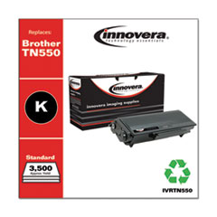 Remanufactured Black Toner, Replacement for Brother TN550, 3,500 Page-Yield
