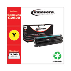 Remanufactured Yellow High-Yield Toner, Replacement for Samsung CLT-Y505L (SU514A), 3,500 Page-Yield