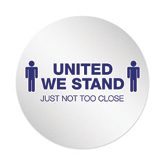 "Personal Spacing Discs, United We Stand, 20"" dia, White/Blue, 6/Pack"