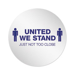"Personal Spacing Discs, United We Stand, 20"" dia, White/Blue, 50/Carton"