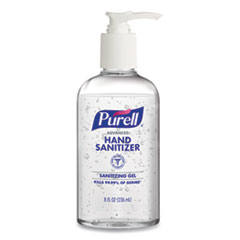 Advanced Gel Hand Sanitizer, 8 oz Pump Bottle, 12/Carton