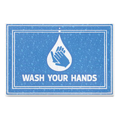 MAT,WASH YOUR HANDS BL,BE
