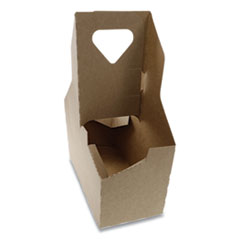 Cup Carrier, Up to 44 oz, Two to Four Cups, 250/Carton