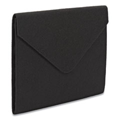 "Soft Touch Cloth Expanding Files, 2"" Expansion, 1 Section, Letter Size, Black"