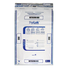 Deposit Bag, 19 x 23, 4 mil Thick, Plastic, Clear, 50/Pack