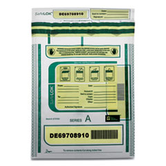 Deposit Bag, 9 x 12, 2 mil Thick, Plastic, Clear, 100/Pack