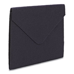 "Soft Touch Cloth Expanding Files, 2"" Expansion, 1 Section, Letter Size, Dark Blue"