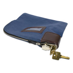 Fabric Deposit Bag, Locking, 8.5 x 11 x 1, Nylon, Blue